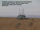 N7MX prepares to charge from the eastern Washington bush like an angry rhino, Sept 2002 VHF Contes