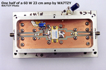 One half of a 60-watt 23-cm amplifier by WA7TZY