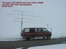 N7OEP atop Dyer Hill in DN08, January 2003 VHF Sweepstakes