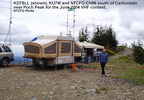 KD7SLL, KU7M and N7CFO near Poch Peak CN96, June 2004 VHF contest