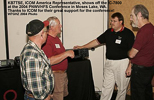 KB7TSE, Icom Representative, shows off the IC-7800 at the 2004 Conference
