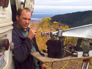Eric KB7DQH in the 2005 Sept VHF Contest on Mt Crag, CN87ms