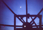 Looking at moon through mesh of 10' dish by Greg K7YDL.