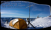 HG1DUL on Mission Ridge in CN97sg during the 2013 January VHF Contest