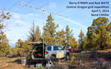 VHF rovers Barry K7BWH and Rod WE7X near Bend, OR CN94ie
